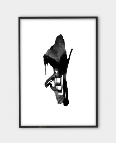 Yiannis Karavelis, inkographie 5 | Black white art prints from monoqrome.co