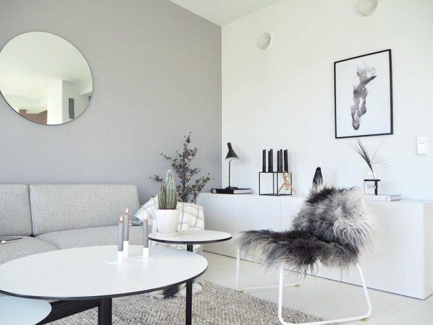 Norwegian livingroom, art print from monoqrome.co