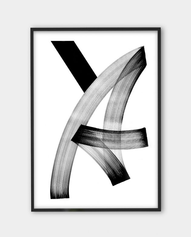 Blaqk, Form 2 | Black white art prints from monoqrome.co